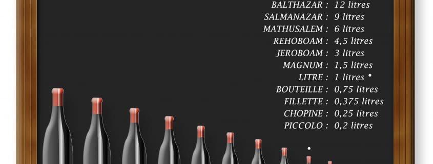 formats de bouteilles de vin